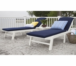 POLYWOOD� Nautical 3-Piece Chaise Set with Cushions