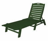 "POLYWOOD� Nautical 79"" Chaise - Stackable"
