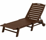 POLYWOOD� Nautical Armless Chaise