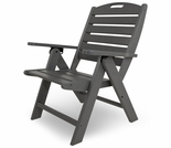 POLYWOOD� Nautical Highback Reclining Folding Chair