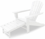 POLYWOOD� Palm Coast Ultimate Adirondack Chair with Hideable Ottoman