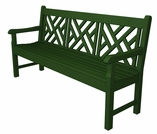 """POLYWOOD® Rockford 72"""" Chippendale Bench"""