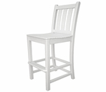 POLYWOOD� Traditional Garden Bar Side Chair