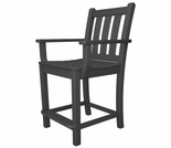 POLYWOOD� Traditional Garden Counter Arm Chair