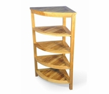 "Regal Teak 19.75"" Corner Shelf"