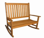 Regal Teak Rocking Bench