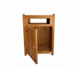 "Regal Teak 23"" Trash Receptacle - Front Opening"
