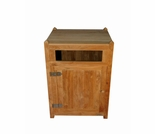 "Regal Teak 23"" Trash Receptacle - Top Opening"