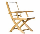 Three Birds Riviera Teak Folding Armchair - 6 Color Options