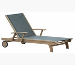 Three Birds Riviera Teak Lounger - 6 Color Options