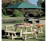 Round Cedar Picnic Table Group