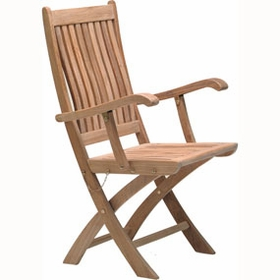 Sailor Teak Folding Armchair OutdoorFurniturePlus.Com