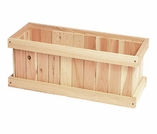 Solid Cedar Wood Window Box - Multiple Sizes - Not Currently Available