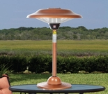 Table Top Round Copper Finish Halogen Patio Heater