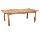 "Teak Arlington 74"" Rectangular Dining Table - Out of Stock til Dec"