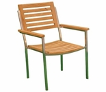 Teak Arlington Stacking Side or Arm Chair