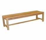 Teak 4' & 5' Backless Bench