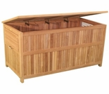 "Teak 49"" Cushion Box - Out of Stock til Apr"
