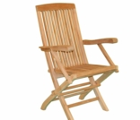 Teak Fan Folding Arm Chair