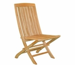 Teak Fan Folding Side Chair