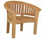 Teak Half Moon Curved Single Chair- Currently Out of Stock