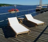 Teak Hampton Chaise Set