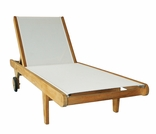 Teak Hampton Sling Chaise Lounge - Currently Out of Stock
