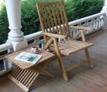 Teak Reclining Chair Set