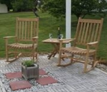 Teak Rocking Chair Set