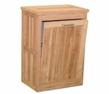 "Teak 20"" Small Trash Container"