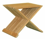 "17"" or 19"" Teak Snack Table"