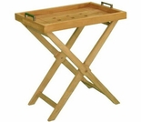 "Teak 20"" Tray with Stand"