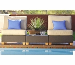 Three Birds Ciera Armless Sectional Set