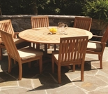 "Three Birds Oxford 60"" 7-Piece Dining Set"