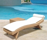 Wave Wicker Sun Bed Lounge Chair - Color Options