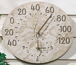 Fossil Sumac Thermometer Clock