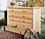 White Cedar Five Drawer Dresser