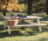 Log Cedar Picnic Table w/ Flip-Up Benches - Additional Cyber Week Discount!