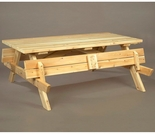 White Cedar Picnic Table w/ Flip-Up Benches