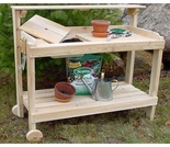Cedar Potters Bench Cart