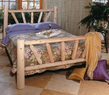 White Cedar Sunburst Beds - Closeout Pricing - Closeout Pricing!