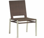 Whitecraft by Woodard All-Weather Pacific Wicker Dining Side Chair- Stackable