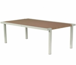 Whitecraft by Woodard All-Weather Sheridan Wicker Rectangular Dining Table