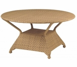 Whitecraft by Woodard Boca Wicker Umbrella Dining Table