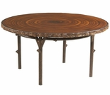 Whitecraft by Woodard Chatham Run Wicker Heartwood Round Dining Table