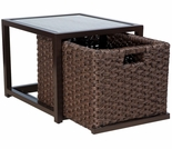 Whitecraft by Woodard Mona Wicker End Table with Drawer