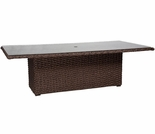 "Whitecraft by Woodard Mona Wicker Woven 42"" x 84"" Rectangular Dining Table"