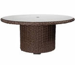 "Whitecraft by Woodard Mona Wicker Woven 54"" Round Dining Table"