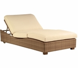 Whitecraft by Woodard Montecito Wicker Double Chaise Lounge