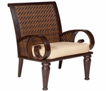 Whitecraft by Woodard North Shore Wicker Dining Arm Chair